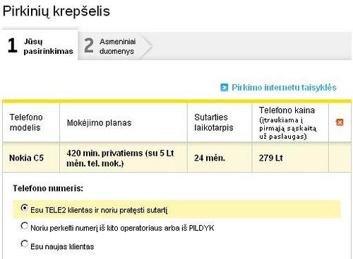Nokia C5 ir 420 min. privatiems
